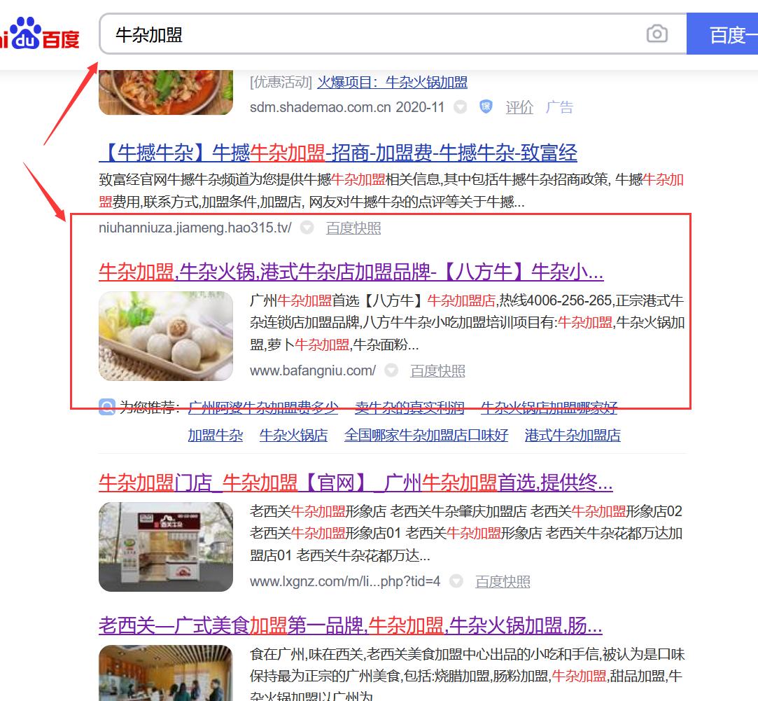 百度关键词优化排名首页加盟关键词搜索引擎SEO优化权重提升